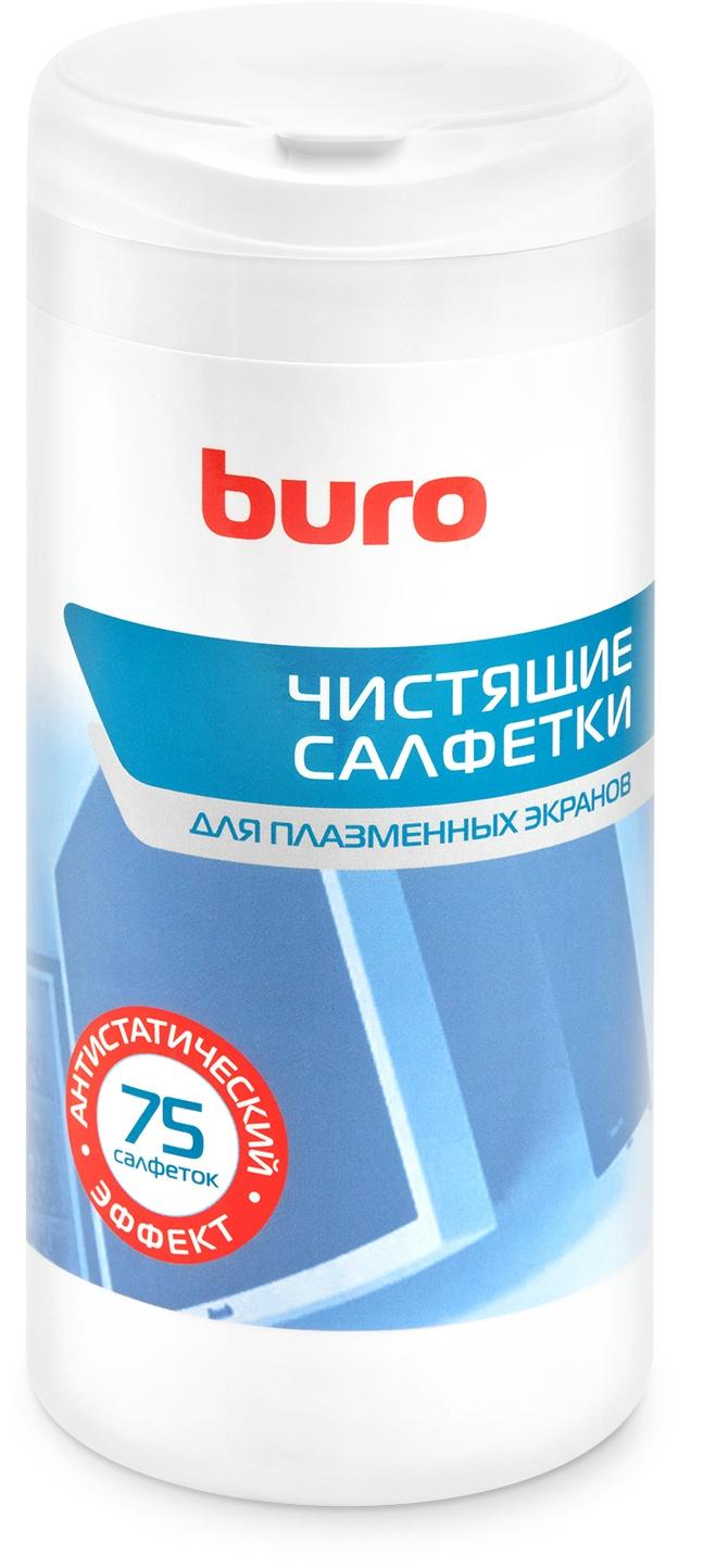Салфетки Buro BU-Tpsm для экранов плазменных телевизоров туба 75шт влажных
