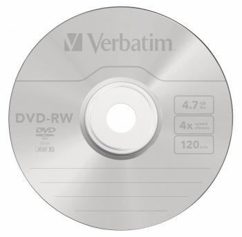 Диск DVD-RW Verbatim 4.7Gb 4x Cake Box (25шт) (43639)
