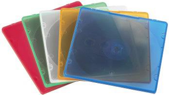 Коробка Hama на 1CD/DVD H-11712 Slim Box разноцветный (упак.:20шт)