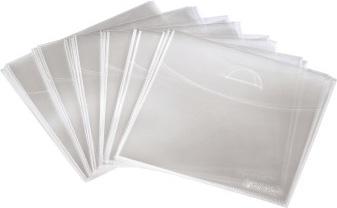 Конверт Hama на 1CD/DVD H-33808 синий/прозрачный (упак.:25шт)