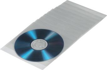 Конверт Hama на 1CD/DVD H-33810 прозрачный (упак.:100шт)