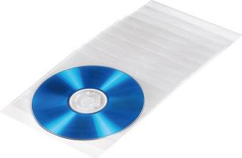 Конверт Hama на 1CD/DVD H-51095 прозрачный (упак.:100шт)