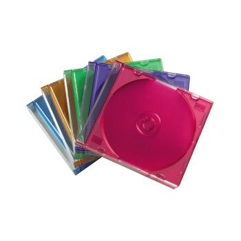 Коробка Hama на 1CD/DVD H-51166 Slim Box разноцветный (упак.:25шт)