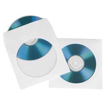 Конверт Hama на 1CD/DVD H-51173 белый (упак.:50шт)