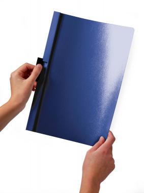 Папка с клипом Durable Duraclip 220001 прозрач. верх.лист A4 1-30лист. черный