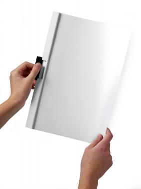 Папка с клипом Durable Duraclip 220002 прозрач. верх.лист A4 1-30лист. белый