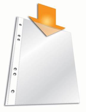 Папка-карман Durable 2650-19 прозрачный А5 вертикальный 65мкм (упак.:25шт)