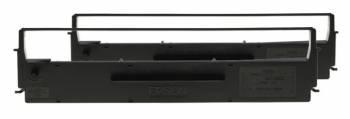 Картридж ленточный Epson C13S015614BA черный набор карт. для Epson LX-300/300+
