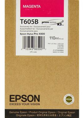 Струйный картридж EPSON C13T605B00 для Stylus Pro 4800 110 мл пурпурный new