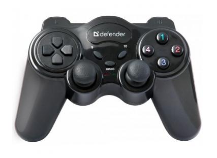 Геймпад Defender Game Master черный USB Беспроводной