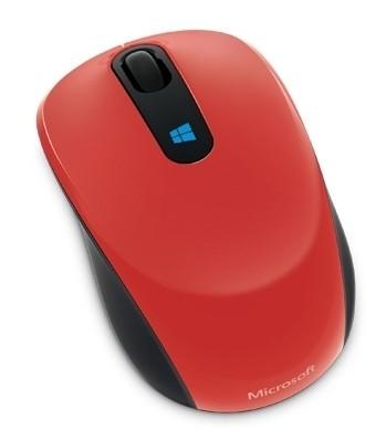 Мышь Microsoft Sculpt красный оптическая (1000dpi) беспроводная USB2.0 для ноутбука (3but)