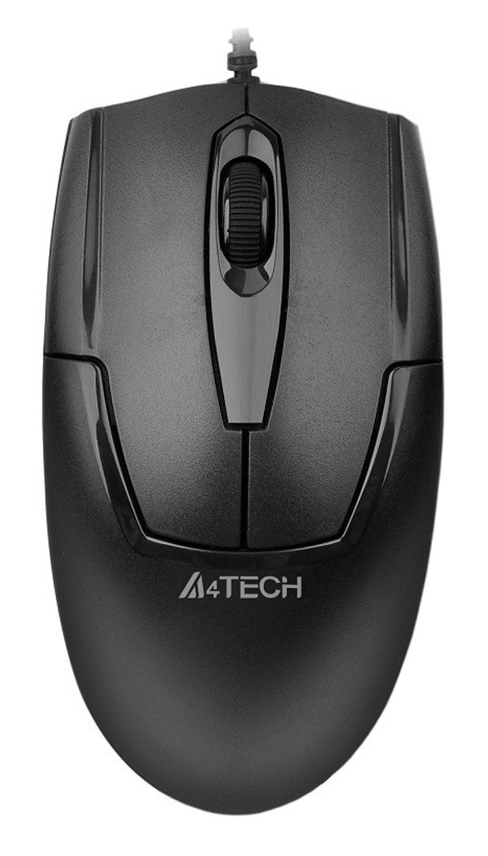 Мышь A4 V-Track Padless OP-540NU черный оптическая (1000dpi) USB (2but)
