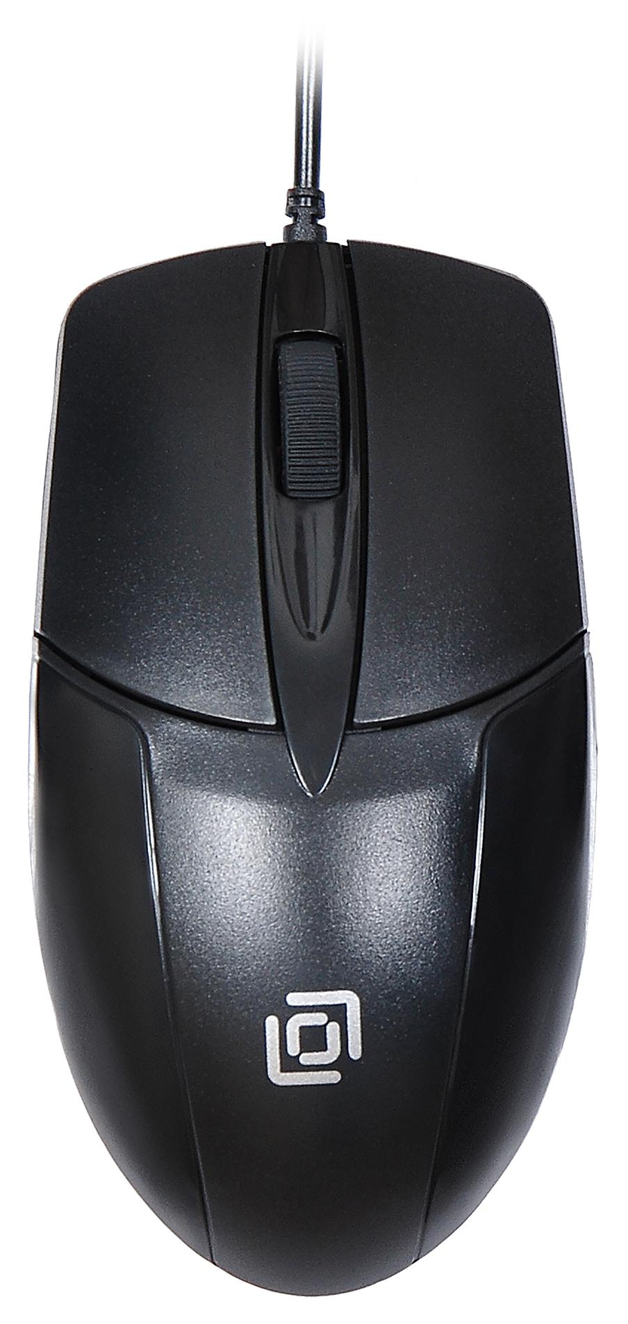 Мышь Oklick 145M черный оптическая (1000dpi) USB (2but)