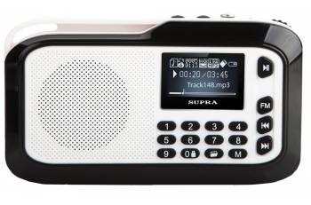Аудиомагнитола Supra PAS-3909 серебристый 3Вт/MP3/FM(dig)/USB/microSD