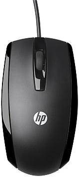 Мышь HP X500 черный оптическая USB2.0 (2but)