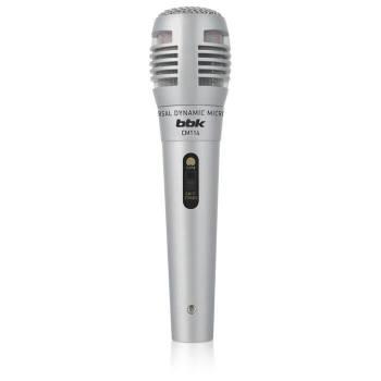 Микрофон проводной BBK CM114 2.5м серебристый