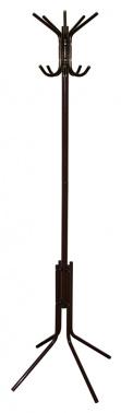 Вешалка напольная Бюрократ CR-002/BROWN коричневый основание ножки наконечники черный крючки двойные