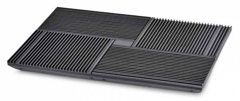 """Подставка для ноутбука Deepcool MULTI CORE X8 (MULTICOREX8) 17""""381x268x29мм 23дБ 2xUSB 4x 100ммFAN 1290г алюминий/пластик черный"""