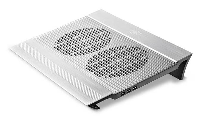 "Подставка для ноутбука Deepcool N8 17""380x278x55мм 25дБ 4xUSB 2x 140ммFAN 1245г алюминий серебристый"