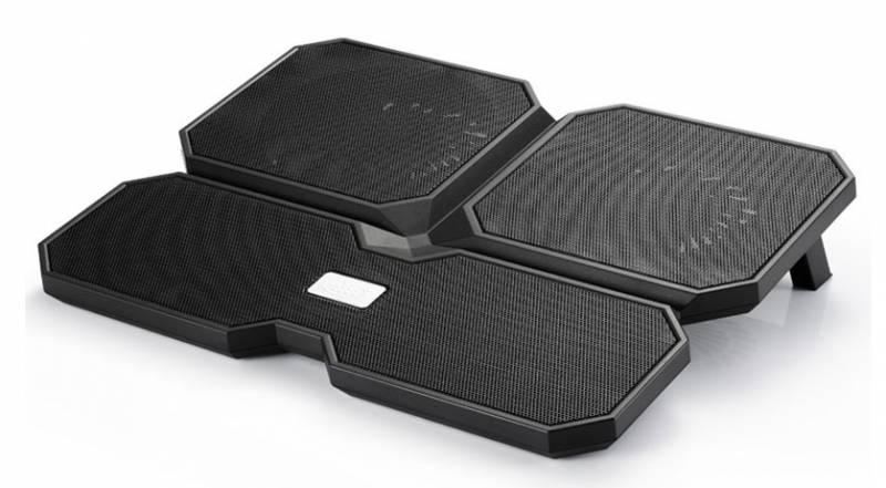 """Подставка для ноутбука Deepcool MULTI CORE X6 (MULTICOREX6) 15.6""""380x295x24мм 24дБ 2xUSB 4x 900г черный"""
