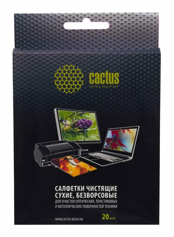 Салфетки Cactus CS-T1003 универсальные 20шт сухие безворсовые 15х13см