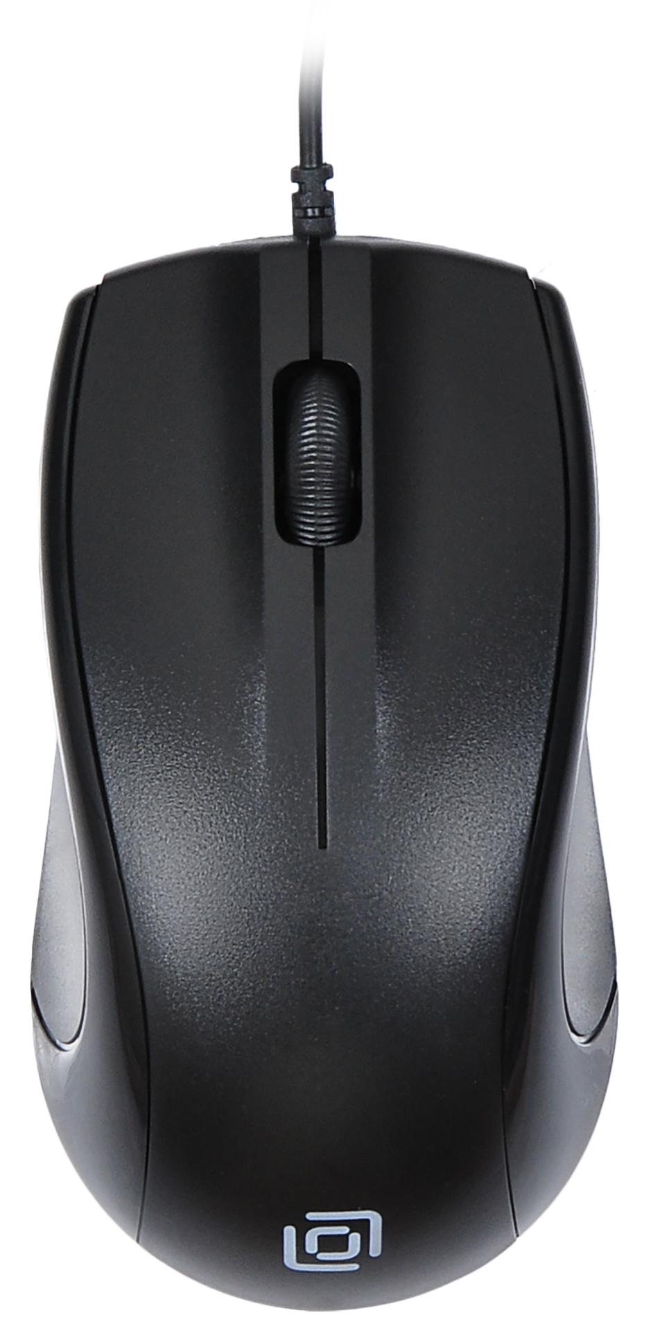 Мышь Oklick 185M черный оптическая (1000dpi) USB (2but)