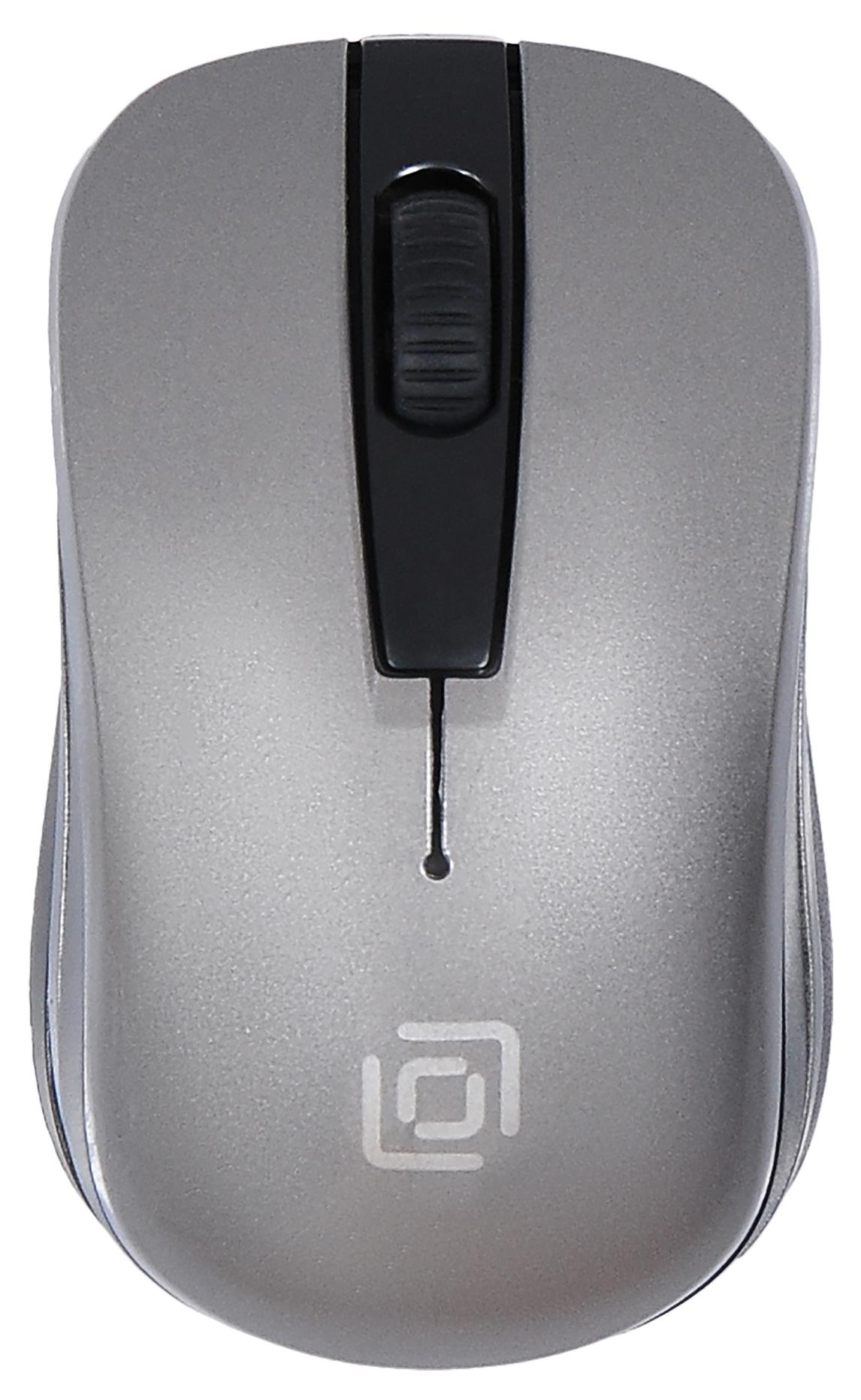 Мышь Oklick 445MW черный/серый оптическая (1200dpi) беспроводная USB (2but)