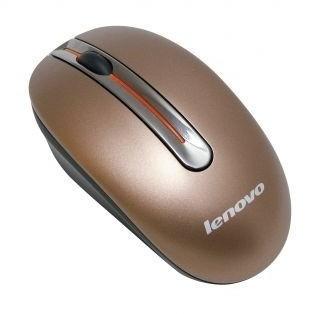 Мышь Lenovo N3903 кофейный оптическая (1000dpi) беспроводная USB для ноутбука