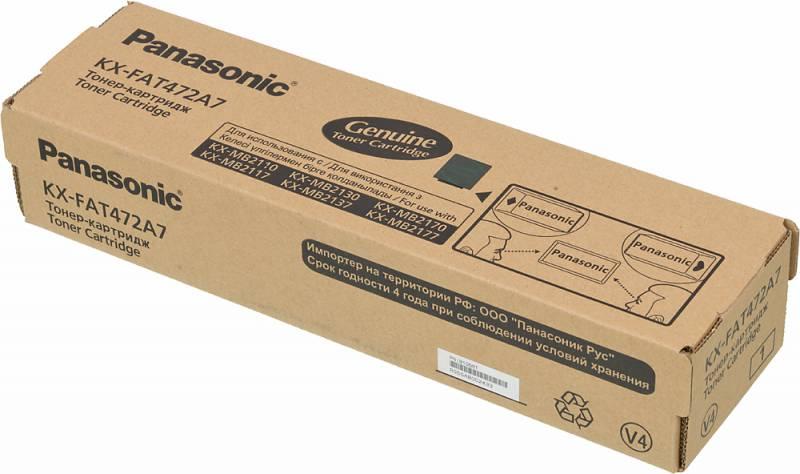 Картридж лазерный Panasonic KX-FAT472A7 черный (2000стр.) для Panasonic KX-MB2110/2130/2170