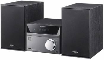 Микросистема Sony CMT-SBT40D черный/серебристый 50Вт/CD/CDRW/DVD/DVDRW/FM/USB/BT