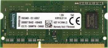Память DDR3L 4Gb 1600MHz Kingston KVR16LS11/4 RTL PC3-12800 CL11 SO-DIMM 204-pin 1.35В