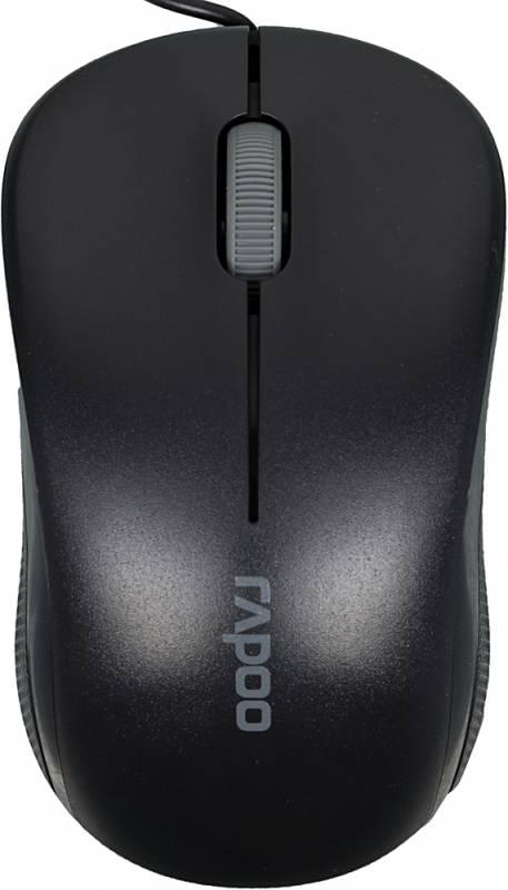 Мышь Rapoo N1130 черный оптическая (1000dpi) USB2.0 (2but)