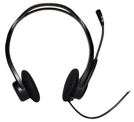 Наушники с микрофоном Logitech 960 черный 2.4м накладные оголовье (981-000100)