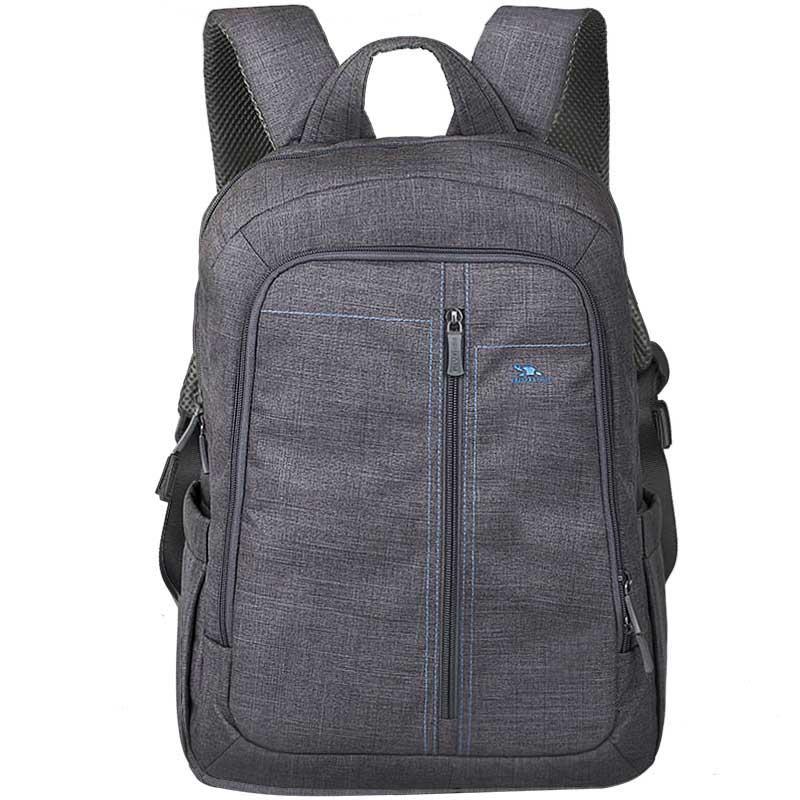 """Рюкзак для ноутбука 15.6"""" Riva 7560 серый полиэстер"""
